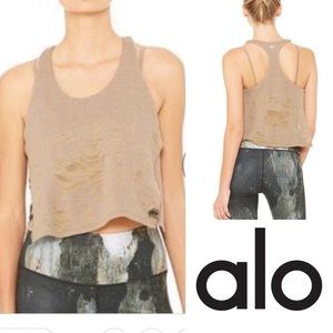 NWT Alo Yoga Step Tank in Beige